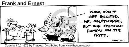 Cartoonist Bob Thaves Tom Thaves  Frank and Ernest 1979-10-27 medical equipment