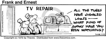 Comic Strip Bob Thaves Tom Thaves  Frank and Ernest 1979-11-14 equipment