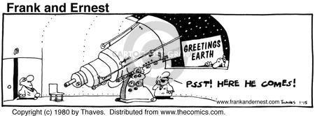 Cartoonist Bob Thaves Tom Thaves  Frank and Ernest 1980-01-15 star