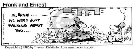 Comic Strip Bob Thaves Tom Thaves  Frank and Ernest 1980-01-17 gossip