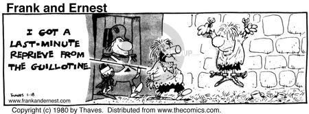 Comic Strip Bob Thaves Tom Thaves  Frank and Ernest 1980-01-18 delay