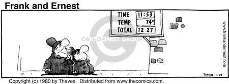 Comic Strip Bob Thaves Tom Thaves  Frank and Ernest 1980-01-29 math