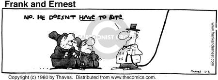 Comic Strip Bob Thaves Tom Thaves  Frank and Ernest 1980-02-02 leash