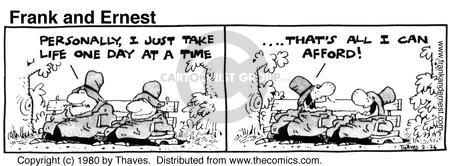 Comic Strip Bob Thaves Tom Thaves  Frank and Ernest 1980-02-26 budget