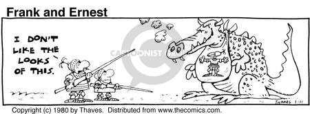Cartoonist Bob Thaves Tom Thaves  Frank and Ernest 1980-03-11 fire