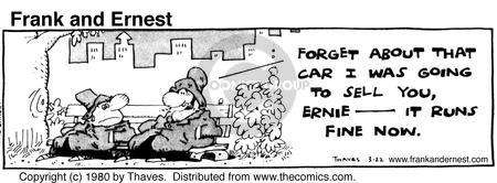 Comic Strip Bob Thaves Tom Thaves  Frank and Ernest 1980-03-22 sale