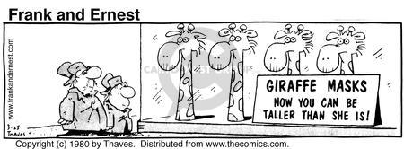 Comic Strip Bob Thaves Tom Thaves  Frank and Ernest 1980-03-25 disguise