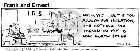Comic Strip Bob Thaves Tom Thaves  Frank and Ernest 1980-03-27 tax