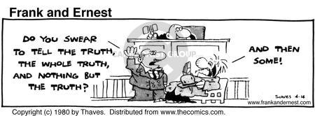 Comic Strip Bob Thaves Tom Thaves  Frank and Ernest 1980-04-14 distortion