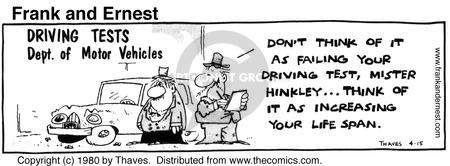 Comic Strip Bob Thaves Tom Thaves  Frank and Ernest 1980-04-15 department of motor vehicles