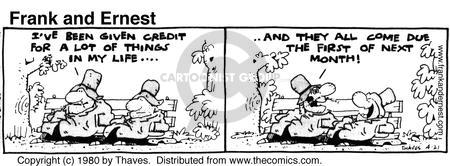 Comic Strip Bob Thaves Tom Thaves  Frank and Ernest 1980-04-21 finance