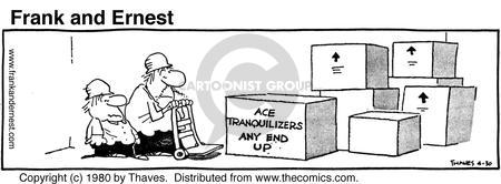Comic Strip Bob Thaves Tom Thaves  Frank and Ernest 1980-04-30 agitation