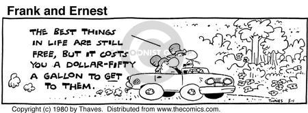 Comic Strip Bob Thaves Tom Thaves  Frank and Ernest 1980-05-01 automobile energy