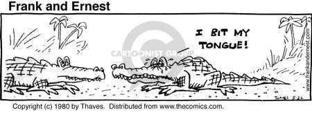 Cartoonist Bob Thaves Tom Thaves  Frank and Ernest 1980-05-22 hurt
