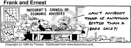 Cartoonist Bob Thaves Tom Thaves  Frank and Ernest 1980-05-26 economy