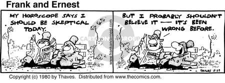 Comic Strip Bob Thaves Tom Thaves  Frank and Ernest 1980-05-29 today