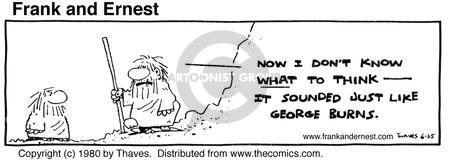 Comic Strip Bob Thaves Tom Thaves  Frank and Ernest 1980-06-25 sound