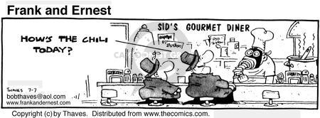 Comic Strip Bob Thaves Tom Thaves  Frank and Ernest 1980-07-07 gourmet cooking