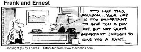 Comic Strip Bob Thaves Tom Thaves  Frank and Ernest 1980-07-21 employee