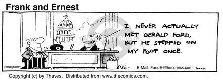 Comic Strip Bob Thaves Tom Thaves  Frank and Ernest 1980-07-24 coordinate