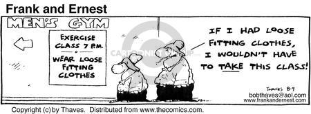 Comic Strip Bob Thaves Tom Thaves  Frank and Ernest 1980-08-09 work clothes