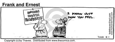 Comic Strip Bob Thaves Tom Thaves  Frank and Ernest 1980-08-11 empathy