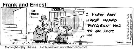 Comic Strip Bob Thaves Tom Thaves  Frank and Ernest 1980-08-13 win