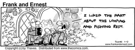 Comic Strip Bob Thaves Tom Thaves  Frank and Ernest 1981-01-17 bible