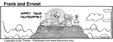 Cartoonist Bob Thaves Tom Thaves  Frank and Ernest 1981-03-11 meditation