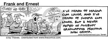 Comic Strip Bob Thaves Tom Thaves  Frank and Ernest 1981-06-03 graduation