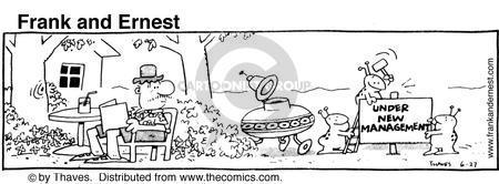 Cartoonist Bob Thaves Tom Thaves  Frank and Ernest 1981-06-27 transition