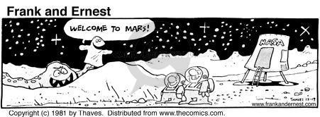 Comic Strip Bob Thaves Tom Thaves  Frank and Ernest 1981-12-19 traveler