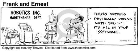 Comic Strip Bob Thaves Tom Thaves  Frank and Ernest 1982-01-11 computer