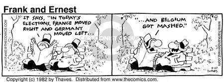 Comic Strip Bob Thaves Tom Thaves  Frank and Ernest 1982-02-27 Germany