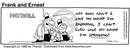 Comic Strip Bob Thaves Tom Thaves  Frank and Ernest 1982-03-22 employee