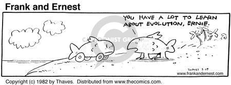 Cartoonist Bob Thaves Tom Thaves  Frank and Ernest 1982-03-29 biology