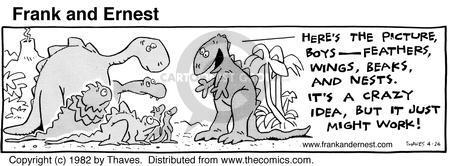 Comic Strip Bob Thaves Tom Thaves  Frank and Ernest 1982-04-24 beak