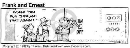Comic Strip Bob Thaves Tom Thaves  Frank and Ernest 1982-05-07 manager