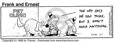 Comic Strip Bob Thaves Tom Thaves  Frank and Ernest 1982-06-07 hear