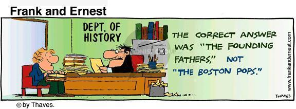 Comic Strip Bob Thaves Tom Thaves  Frank and Ernest 1982-06-28 university