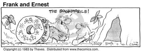 Cartoonist Bob Thaves Tom Thaves  Frank and Ernest 1983-01-26 library