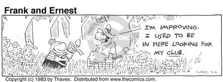 Cartoonist Bob Thaves Tom Thaves  Frank and Ernest 1983-03-31 lost and found