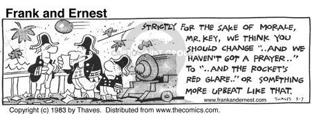 Comic Strip Bob Thaves Tom Thaves  Frank and Ernest 1983-05-07 red