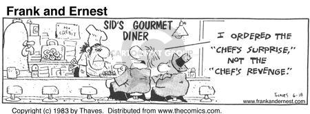 Comic Strip Bob Thaves Tom Thaves  Frank and Ernest 1983-06-18 gourmet cooking