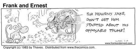 Cartoonist Bob Thaves Tom Thaves  Frank and Ernest 1983-07-14 opposable