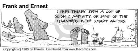 Comic Strip Bob Thaves Tom Thaves  Frank and Ernest 1983-08-10 seismology