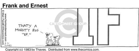 Comic Strip Bob Thaves Tom Thaves  Frank and Ernest 1983-08-31 condition