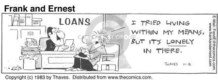 Comic Strip Bob Thaves Tom Thaves  Frank and Ernest 1983-11-08 financial institution