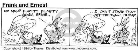 Comic Strip Bob Thaves Tom Thaves  Frank and Ernest 1984-01-06 mushroom