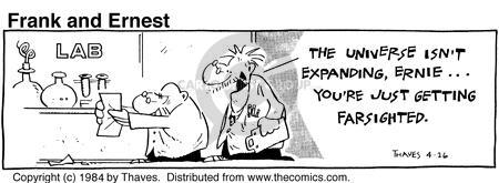 Comic Strip Bob Thaves Tom Thaves  Frank and Ernest 1984-04-26 physics